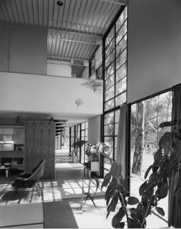 Julius Shulman-Charles Eames,Case Study House8,Pacific Palisades