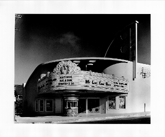Julius Shulman-Mayfair Theatre, Ventura. Ca. S. Charles Lee 1940